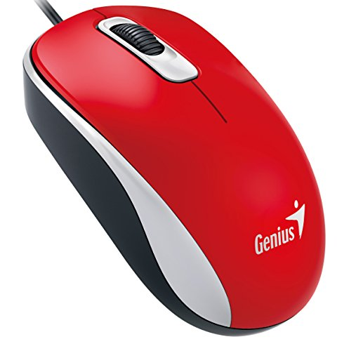 Genius Wired Optical Mouse, Red ()
