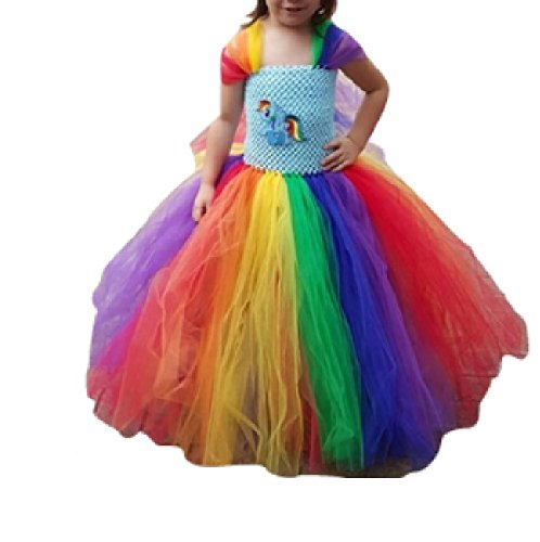 Dashing Rainbow Pony Princess Dress Up Costume from Chunks of Charm (7, Deluxe)
