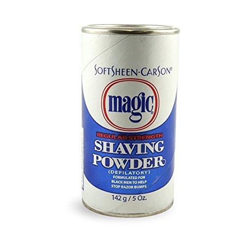 Magic Shaving Powder Blue 5 Ounce Regular Depilatory (145ml) (3 Pack) - Magic Shave Shaving Powder