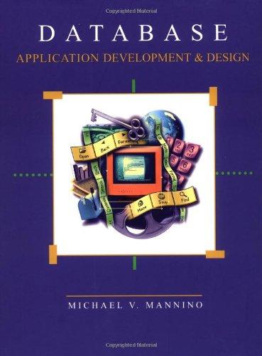 Database Application Development & Design w/ERD Drawing Tool