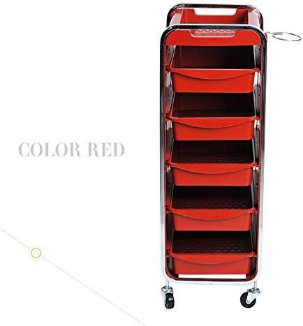 サロントロリーローリングカート 美容サロン染色髪のツールバーの車のカーポリッシュ足 スタイリスト美容院 (Color : Blue, Size : 31x36.5x89CM)