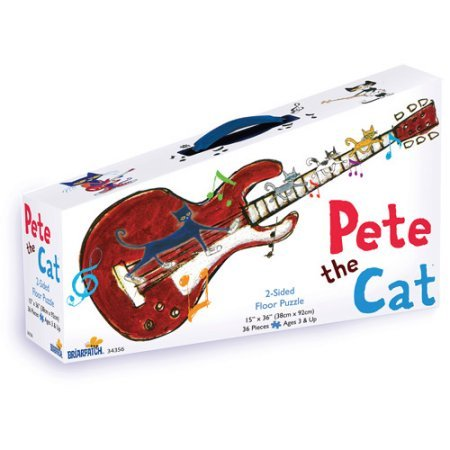 Briarpatch Floor Puzzle - Pete the Cat 2-Sided Floor Puzzle Suitcase: 36 Pieces