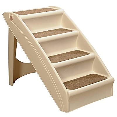 PetSafe Solvit PupSTEP Plus Pet Stairs, Foldable Steps for Dogs and Cats, for Small, Medium, Large, X-Large Pets