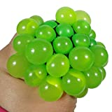Dexinghaoye Anti Stress Face Reliever Grape Ball Autism Mood Squeeze Relief ADHD Toy (Green)