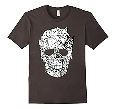 Cat Skull T-Shirt - Kitty Skeleton Halloween Costume Idea