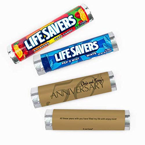 50th Anniversary Candy Personalized Lifesavers 5 Flavor Rolls(20 Rolls)