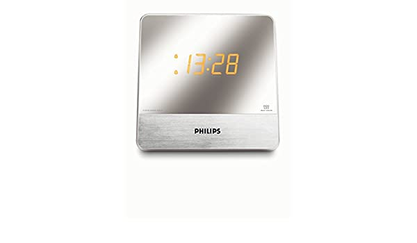 Philips - Radio (Reloj, Digital, FM, MW, 0,1 W, 14 cm, 6,1 cm): Amazon.es: Electrónica