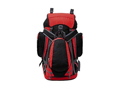 Bolso Del Alpinismo De Xin.S55L Bolso De Hombro Morral Al Aire Libre De La Capacidad Grande Bolso Que Acampa Caminando Recorrido Morral Multi-funcional. Multicolor Red