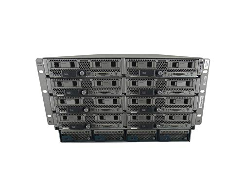 Cisco UCS 5108 Chassis with 8X B200 M4 Blade Server, Per Blade (2X E5-2630 V4 2.2GHz 10 Core, 768GB DDR4, 2X 1.6TB SATA 6Gbps 2.5 SSDs, VIC 1340), 6X 2650W PSUs (Renewed)