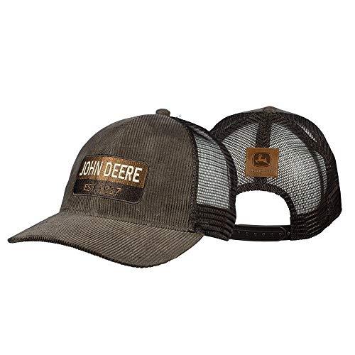 John Deere Established 1837 Corduroy Hat, Brown w/Mesh