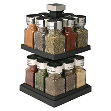 Olde Thompson 16-Jar Filled Carousel Spice Rack