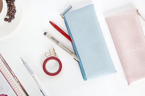 Fablcrew 4 Stück Mäppchen Briefpapier Tasche Bleistiftbeutel Kreatives Briefpapier 4 Farben PU-Material 19 * 8 CM
