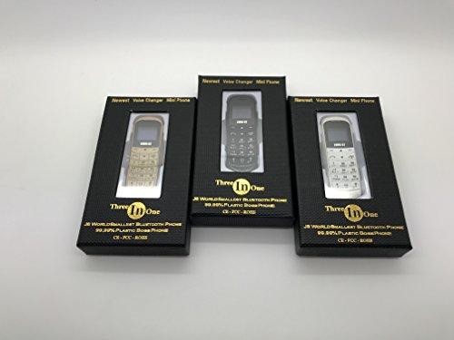 LONG-CZ J8 Bluetooth dialer earphone,Unlock 0.66 inch mini mobile phone SIM Card WCDMA & GSM (black) by LONG-CZ (Image #4)