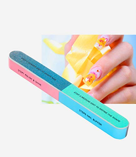 6 Packs Nail Files & Nail Buffers Block - For A Healthier Nicer Shiny Natural Nail For Women,7 Professional Steps for $<!--$7.88-->