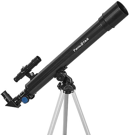 Twin Star 50mm Beginner Compact Refractor Travel Telescope Brand Telescope with Ultimate Factivity, White