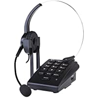 Dialpad with Headset, Urbest Corded Phone [Call Center] Telephone with Headset and Recording Cable and Tone Dial Key Pad