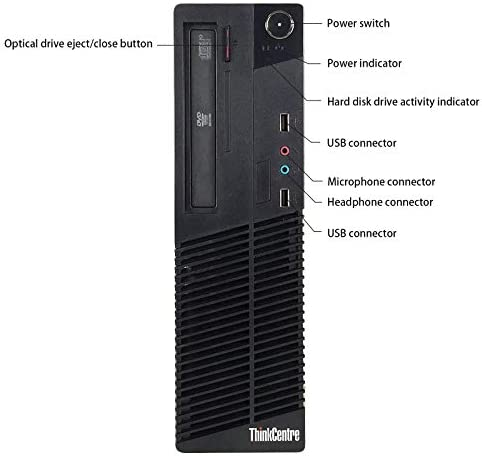 Lenovo ThinkCentre Small Form Desktop PC Computer Package, AMD Athlon 2.8GHz, 4G DDR3, 320G, DVD, VGA, DVI, 19 Inch LCD Monitor(Brands May Vary), Keyboard, Mouse, Windows 10 Pro 64 Bit (Renewed)