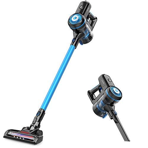 GOOVI Cordless Vacuum Cleaner 10KPa Powerful Suction 40min-Running 2 in 1 Handheld Vacuum Cleaner Lightweight & HEPA Filtration for Home Hardwood Floor Carpet Car Pet Cleaning