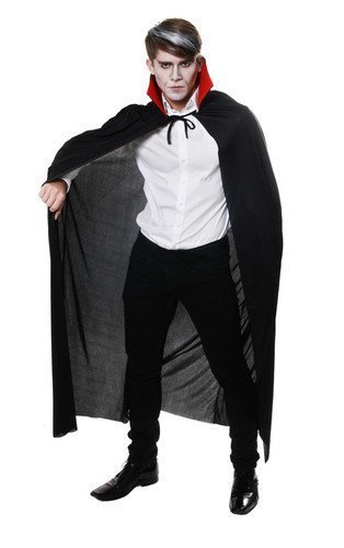 ADULT DRACULA CAPE FULL LENGTH CAPE WITH RED