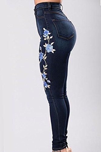 Maigre Stretch Les De Blue Taille Jean Taille Femmes Haute Jeans Plus q00wgz