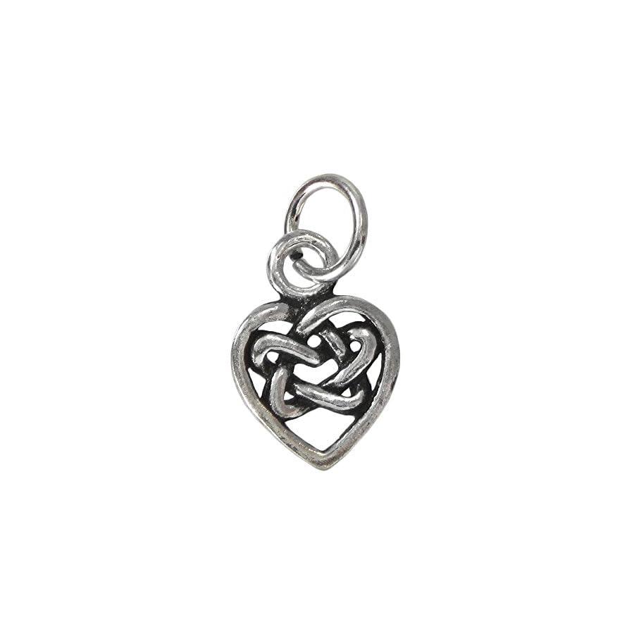 Sterling Silver Hidden Heart Pentacle Charm