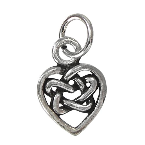 Sterling Silver Hidden Heart Pentacle Charm
