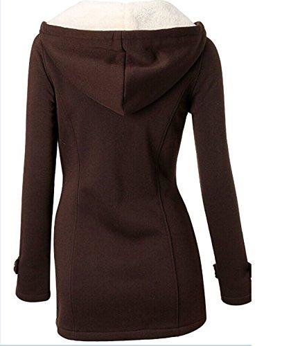 El Otoño Y El Invierno Y Gruesos Delgados Yardas Grandes Botones De Cuerno Con Capucha Suéter Capa De Las Mujeres Capa De Color Opcionales Brown