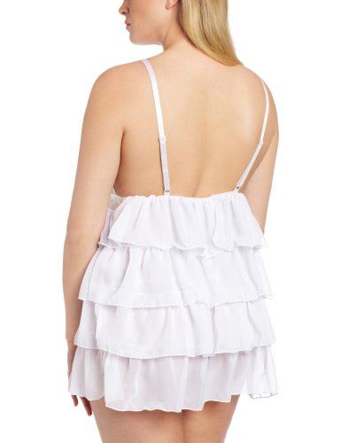 Dreamgirl Women's Plus Size Bridal Bliss Babydoll