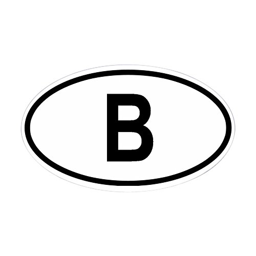 CafePress Belgium Oval Sticker Oval Bumper Sticker, Euro Oval Car Decal