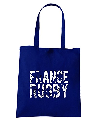 T-Shirtshock - Bolsa para la compra TRUG0089 ruggershirts france rugby logo Azul Marino