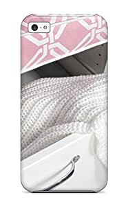 linJUN FENGDurable Defender Case For iphone 4/4s Tpu Cover(white Drawer With Pink Top 038 White Knit Coverlet)