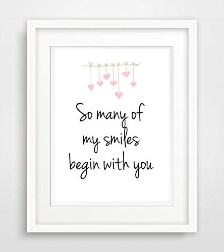 So Many Of My Smiles Begin With You Baby Kinder Zimmer Spruch