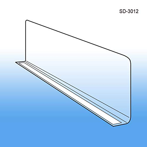 Wide Clear Plastic Shelf Divider 3