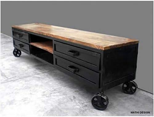 MATHI DESIGN - Mueble de televisión de diseño industrial, con ...