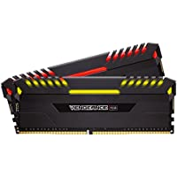 Corsair VENGEANCE RGB 32GB (2 x 16GB) DDR4 288-Pin DIMM Memory (Black)