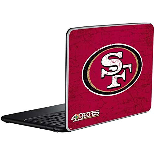 Skinit Decal Laptop Skin for Chromebook - Officially Licensed NFL San Francisco 49ers Distressed Design (49ers Laptop Skin)