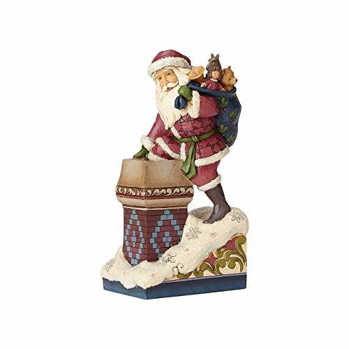 "Enesco Jim Shore Heartwood Creek ""Making Magic"" Stone Resin Santa, 8"" Figurine"