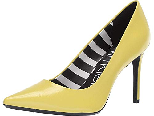 Calvin Klein Women's Ronna Lime Leather Stripes 9.5 M US