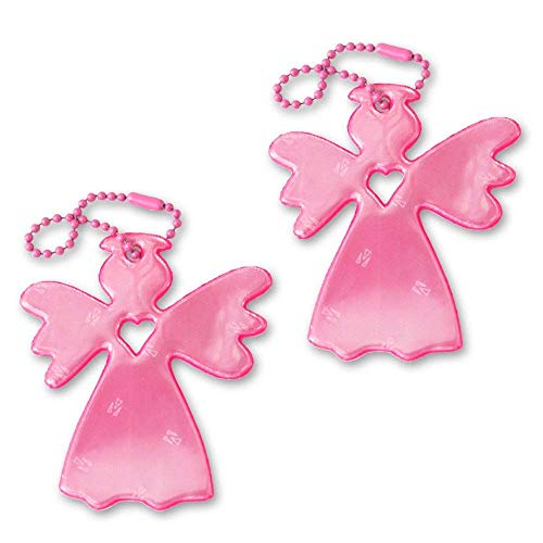 (funflector Safety Reflector - Angel - Angelo Pink - 2-Pack)
