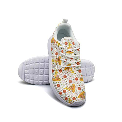 (California pizza1 white Sneaker Shoes for Women nursing Breathable and Lightweight Running Shoes Girls )
