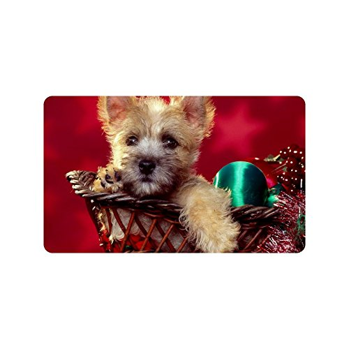 Special Design Custom The Christmas dog in the bamboo frame Personalized Non-Slip Machine Washable Bathroom Indoor/Outdoor Doormat 30 by 18 - Tell What How Are You To Size Frame