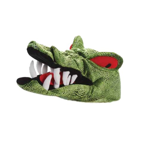 [Angry Red Eyed Plush Crocodile Gator Hat] (Adult Crocodile Costumes)