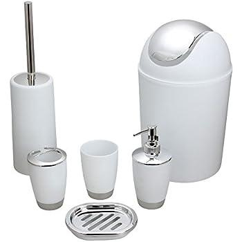 Amazon Com Bluelasers Piece Plastic Bathroom Accessory Set
