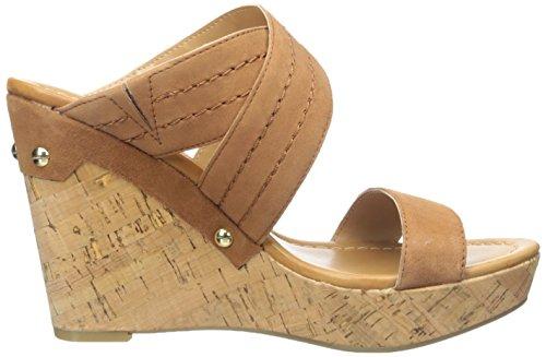 Tommy Hilfiger Mili de las mujeres sandalias de cuña Medium Brown