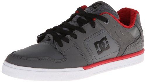 Dc Mens Sneaker Allacciata Grigia / Rossa