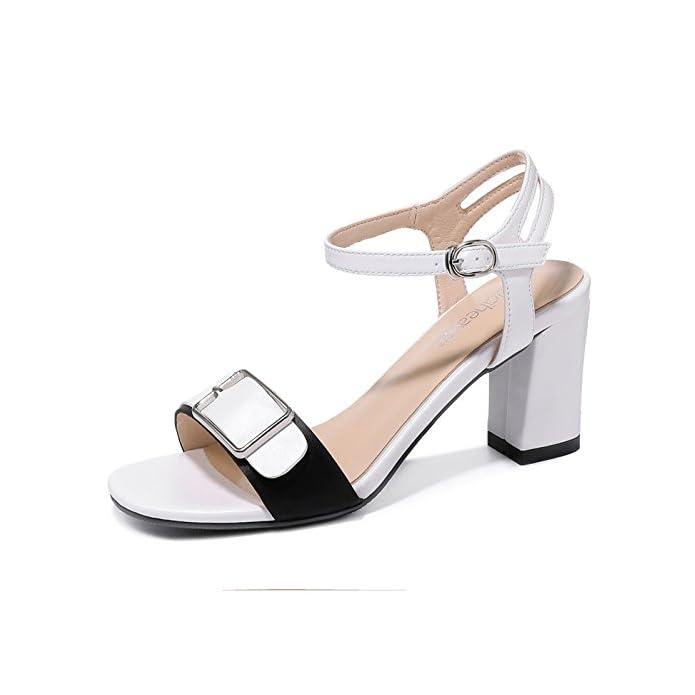 Jqdyl Tacchi Alti Summer New Thick With High Heels Scarpe Da Studente Fibbia Con Sandali Tacco Estate Femminile
