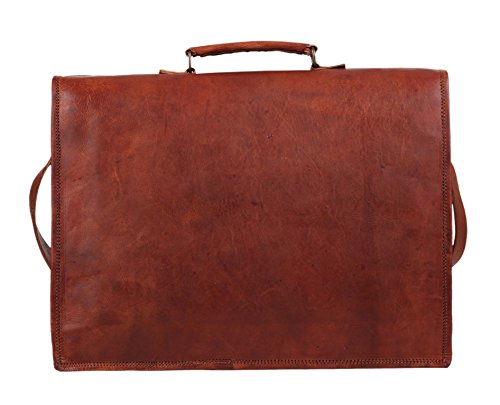 Rustic Town Genuine Leather Laptop Messenger Bag