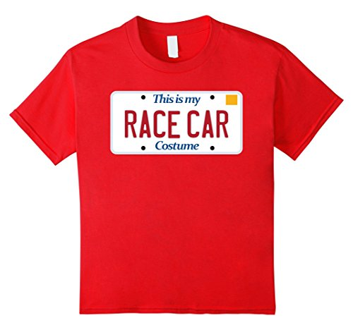 unisex-child Race Car t-shirt; generic costume tshirt silly Halloween tee 8 Red