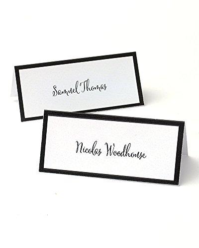 Gartner Studios Black Border Printable Place Cards ()