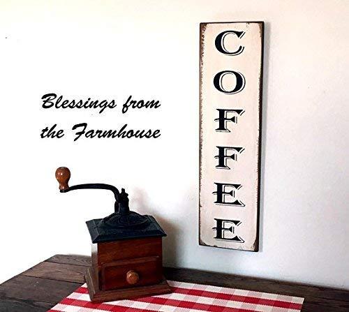 Emily Vertical Coffee Farmhouse Fixer Upper Style 20 x 6...
